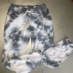 CLOUD CHASER Blue lace up front joggers S